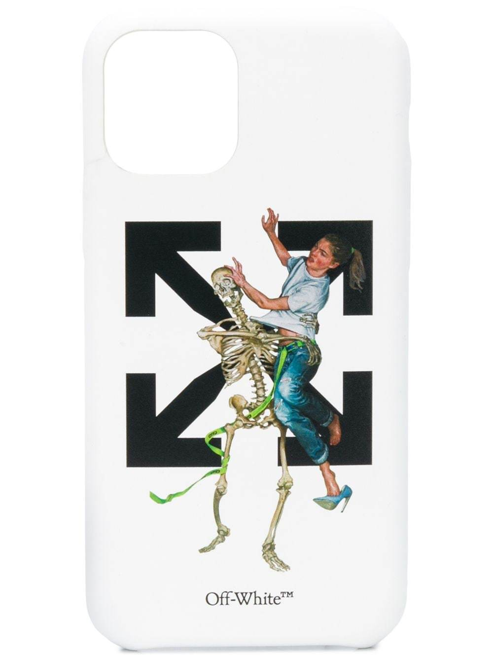 OFF-WHITE Pascal Skeleton iPhone 11 Pro Case White