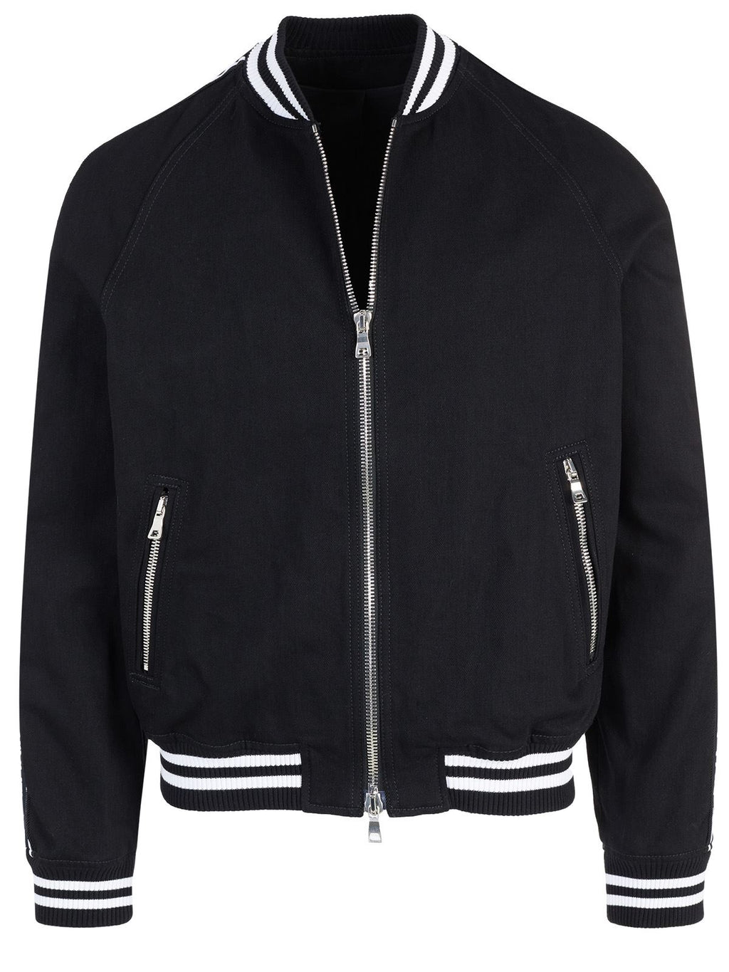 Balmain logo stripe jacket black - Maison De Fashion