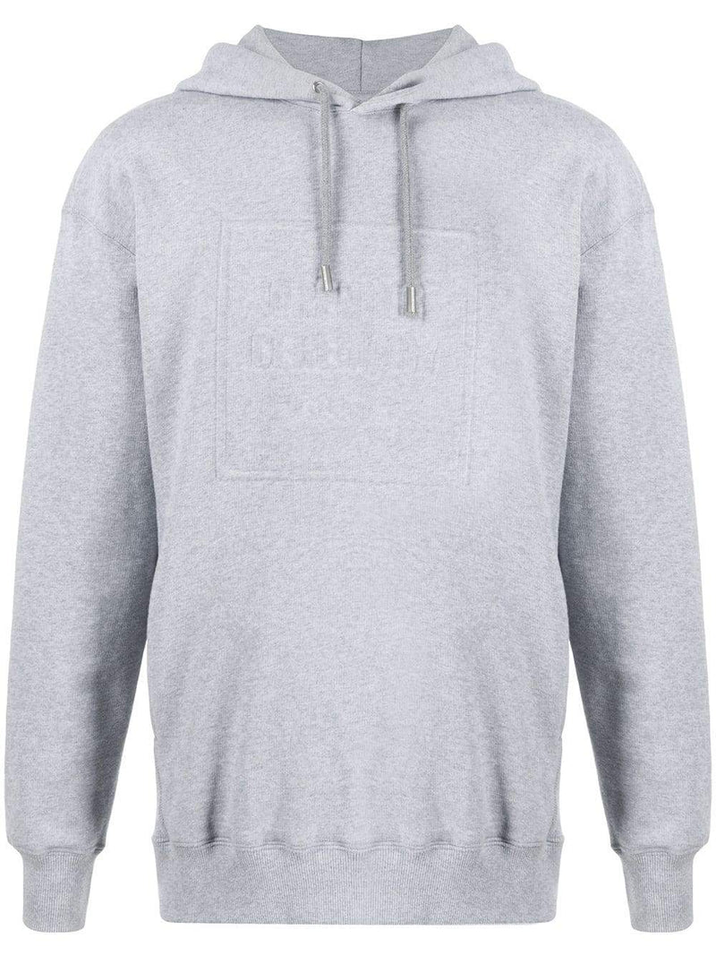 Opening Ceremony Embossed Logo Hoodie Grey