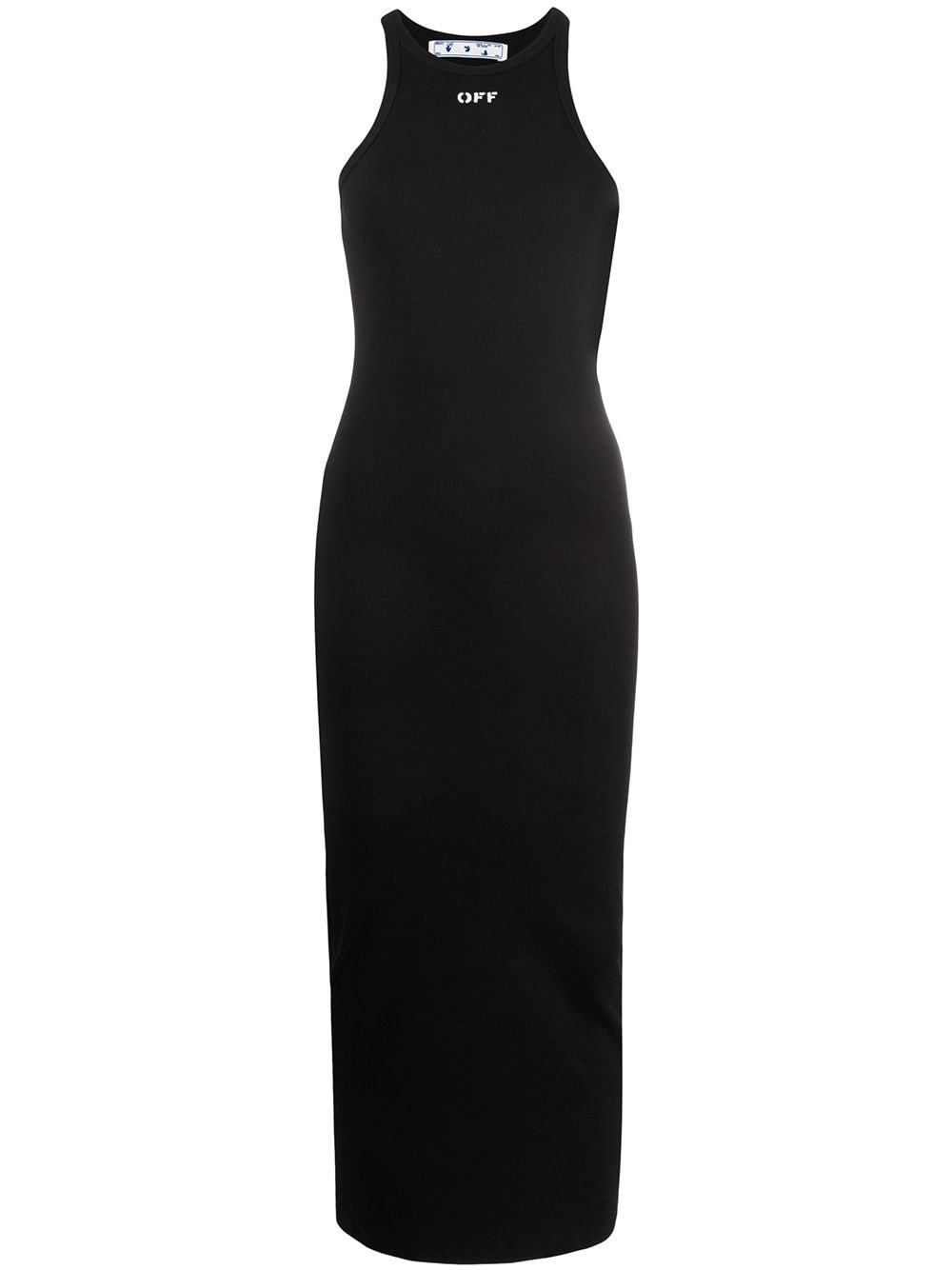 OFF-WHITE WOMEN Basic Ribbed Dress Black