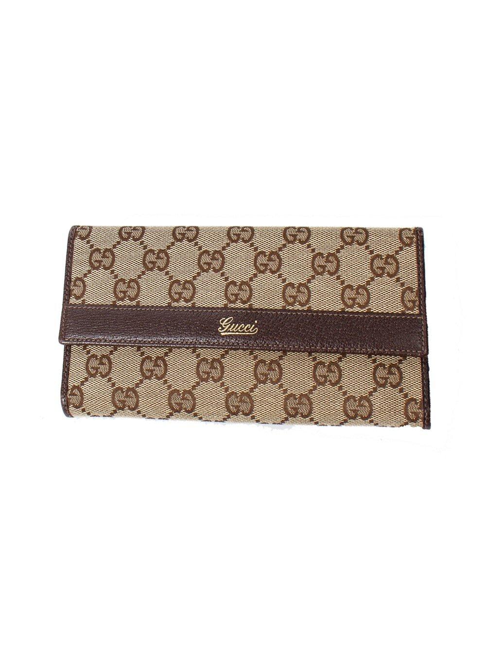 GUCCI Pre-Loved Signature Logo Card Wallet