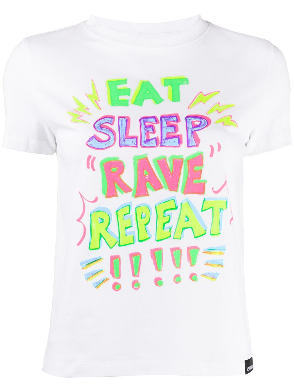 VETEMENTS eat, sleep, rave, repeat t-shirt white