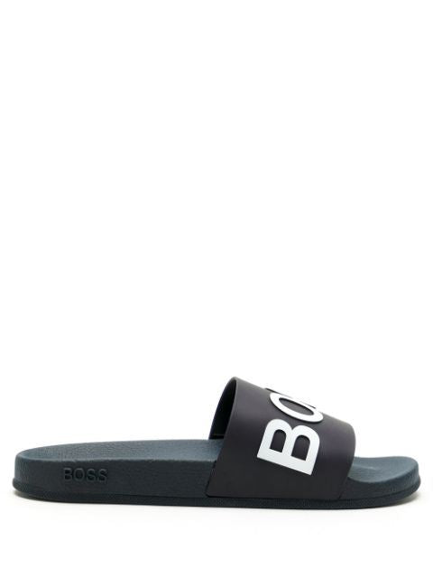 BOSS logo slides blue/white - Maison De Fashion