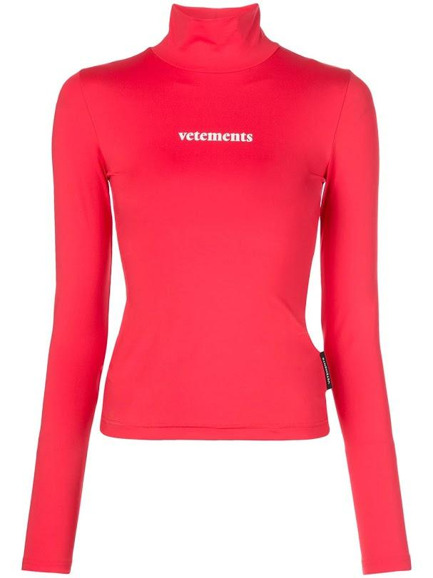 VETEMENTS women styling logo top red