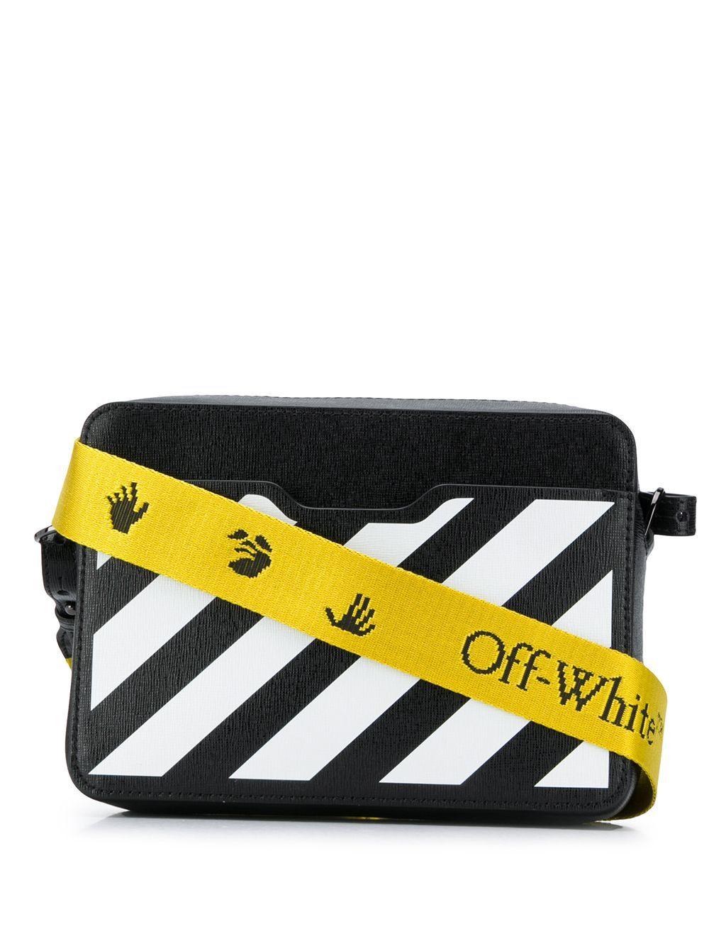 OFF-WHITE diagonal camera bag black/white