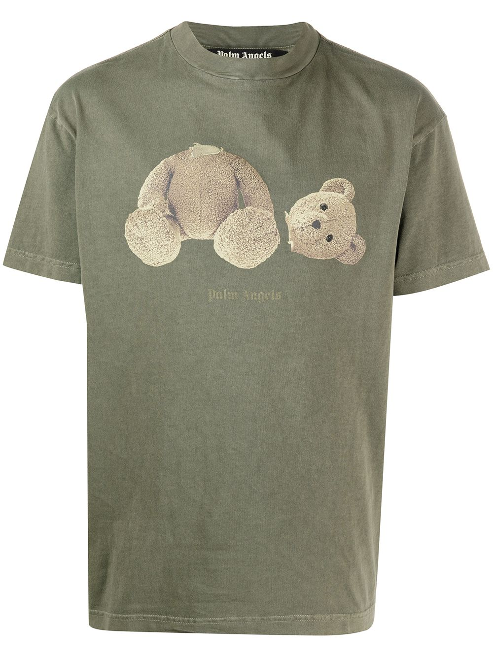 PALM ANGELS Bear Graphic T-Shirt Green