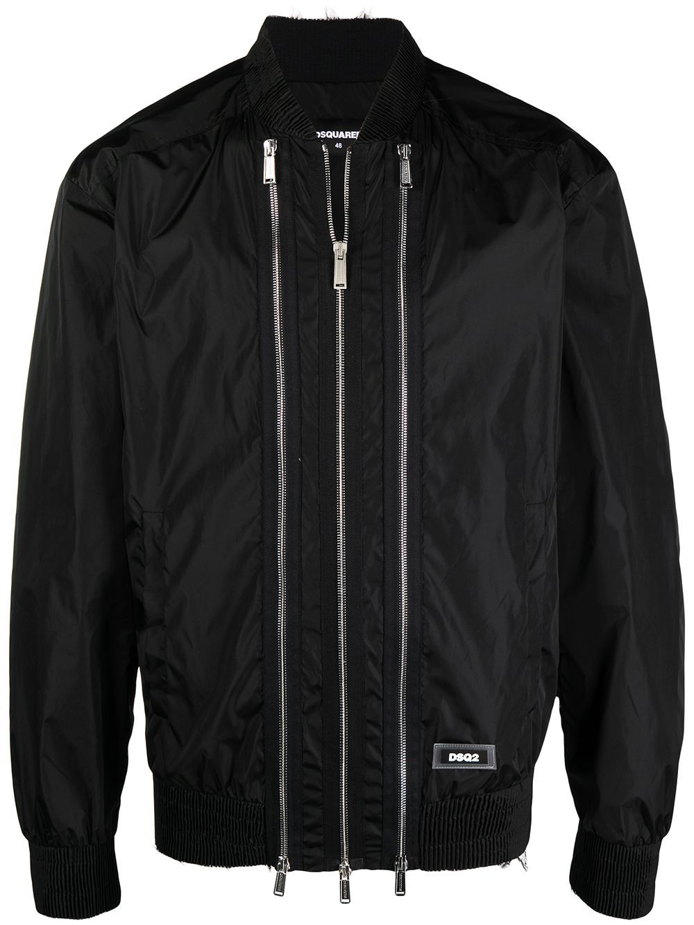 DSQUARED2 3 Zip Bomber Jacket Black