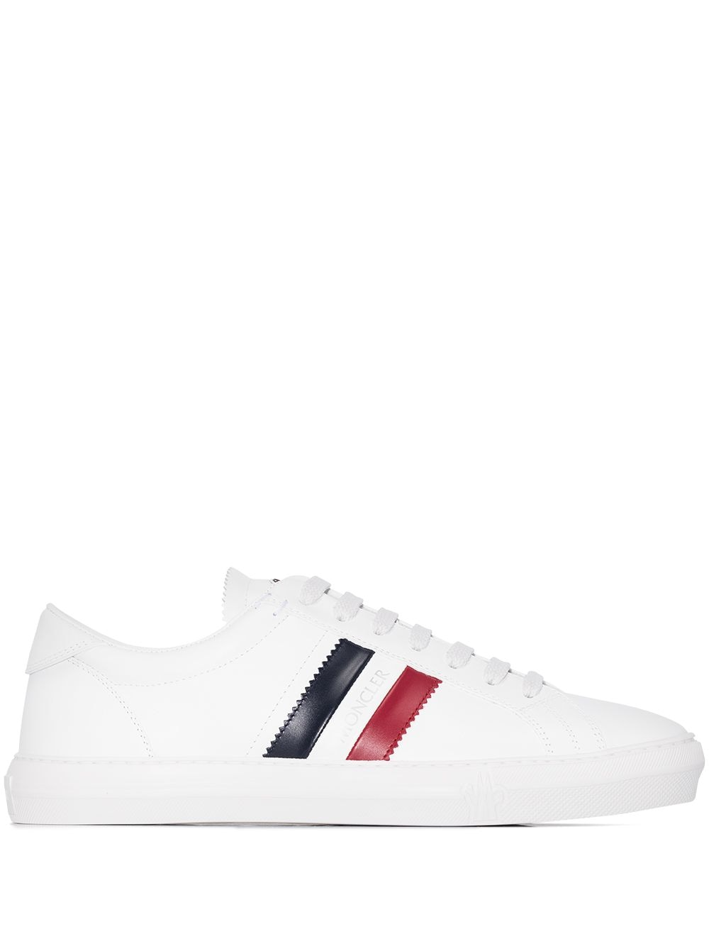 MONCLER New Monaco Stripe-Detail Sneakers White - Maison De Fashion