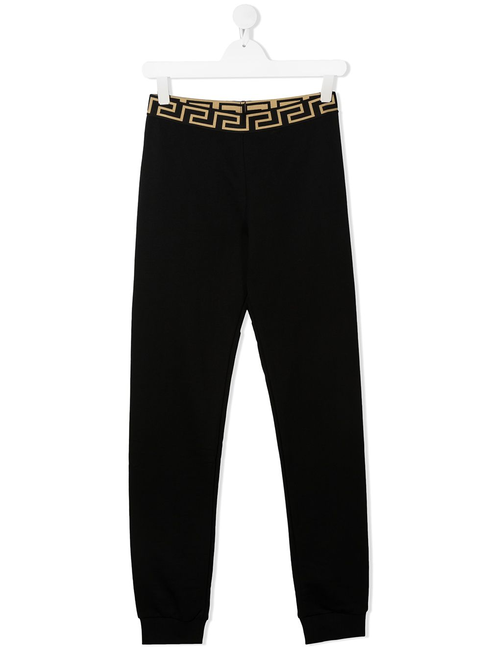 VERSACE KIDS Waistband Logo Track Pants Black - Maison De Fashion
