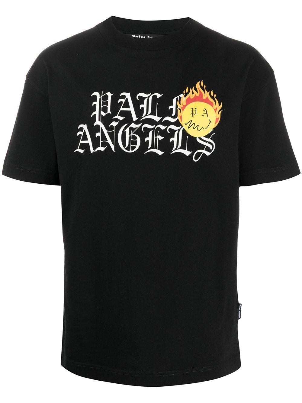 PALM ANGELS Burning Head Logo T-Shirt Black - Maison De Fashion