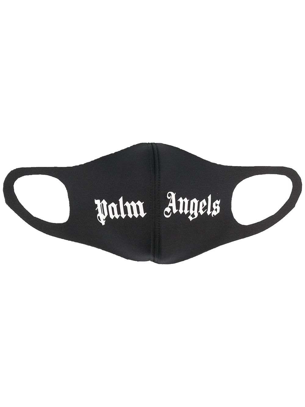 PALM ANGELS Logo Face Mask Black