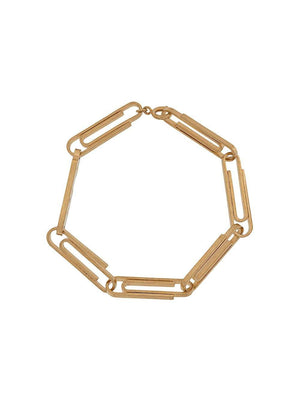 OFF-WHITE Paperclip Bracelet Gold