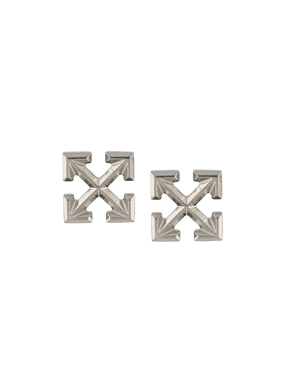 OFF-WHITE Arrow Earrings Silver