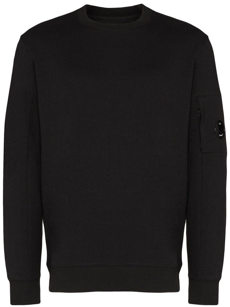 C.P. COMPANY crew neck sweatshirt black