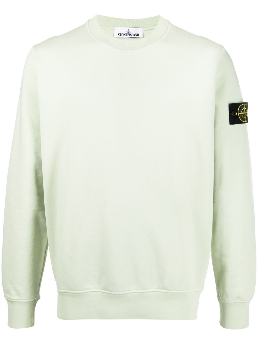 STONE ISLAND Logo Patch Sweatshirt Green