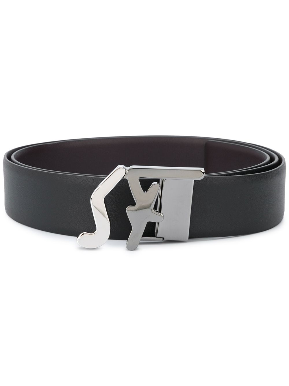 SALVATORE FERRAGAMO SF Logo Belt Black