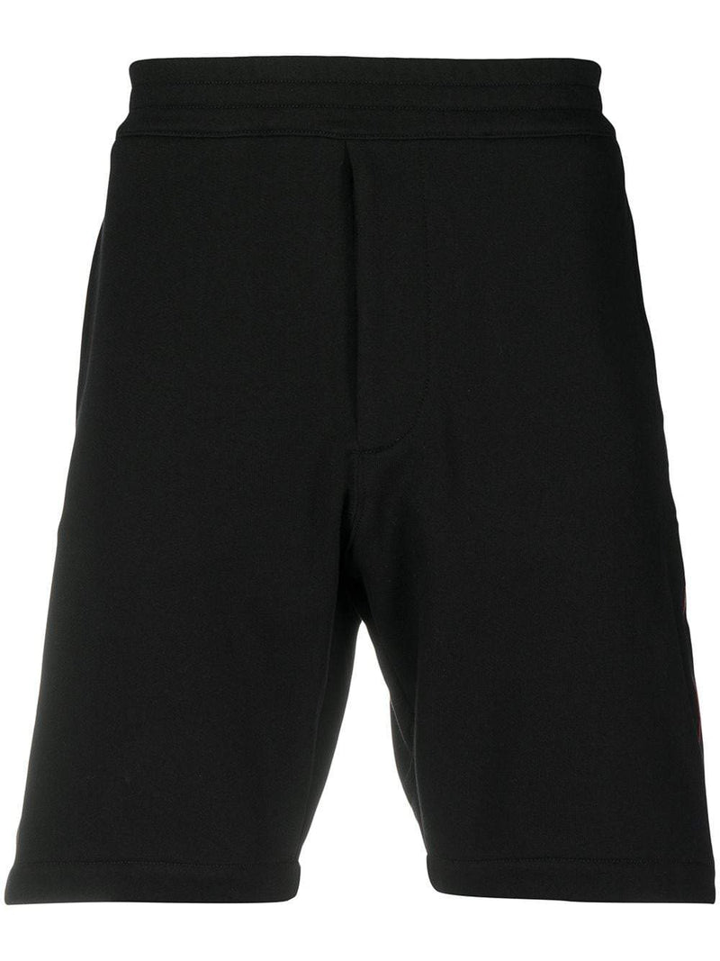 ALEXANDER MCQUEEN Side-panel shorts Black