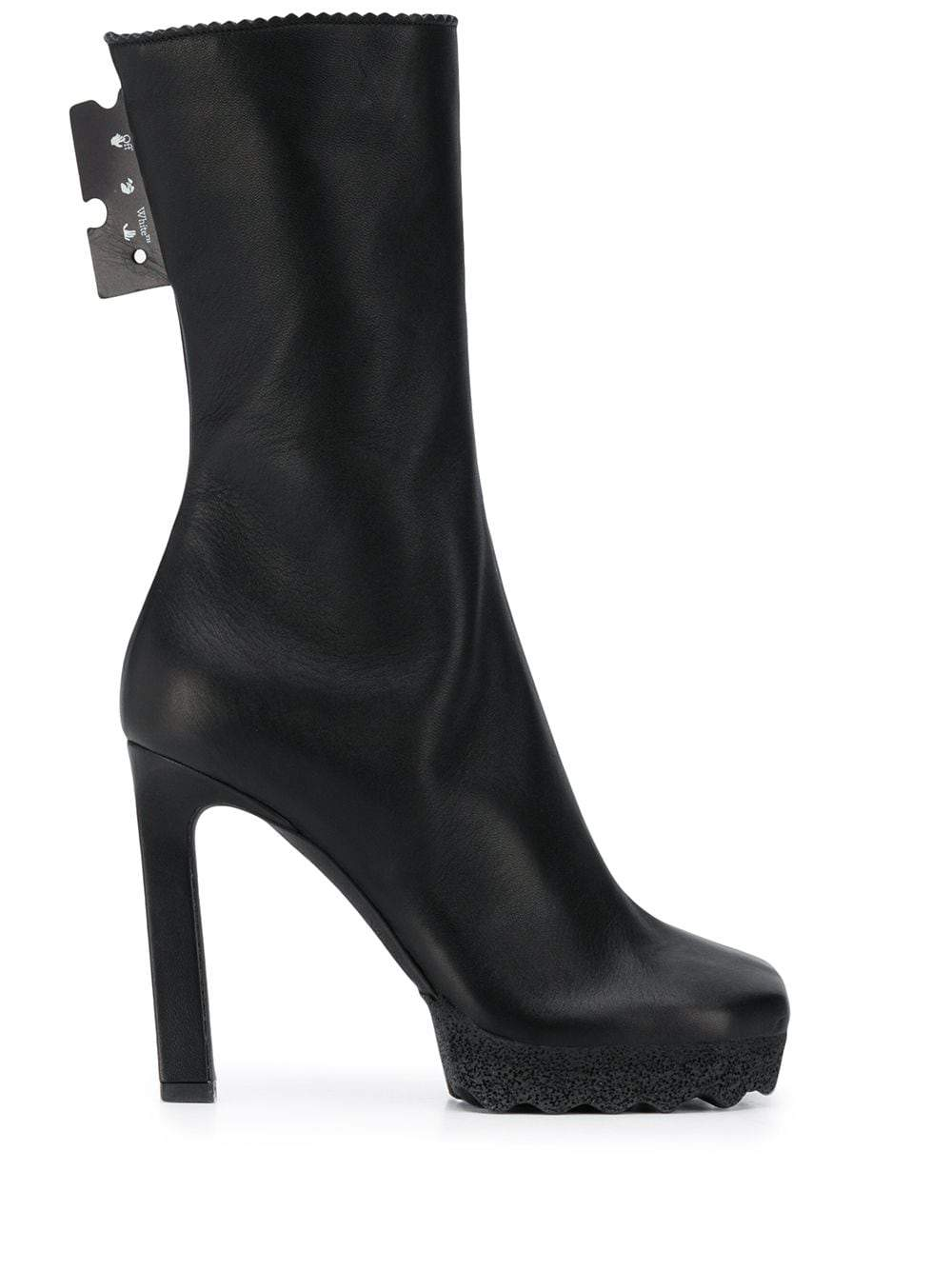 OFF-WHITE Nappa Ankle Boots Black