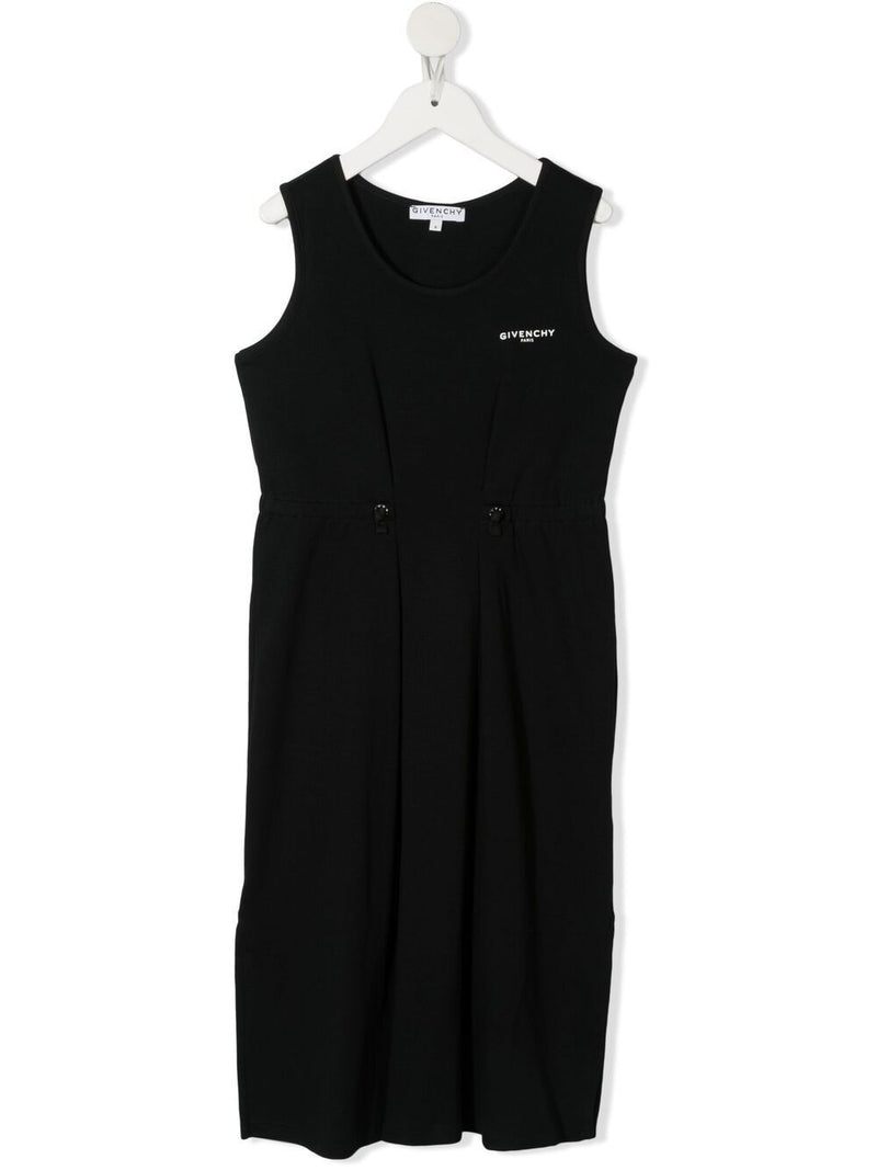 GIVENCHY KIDS Logo Tape Dress Black