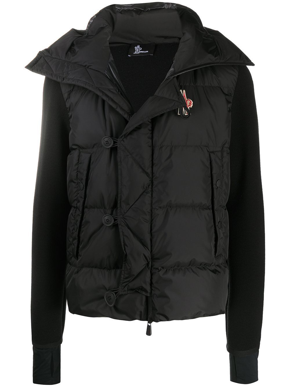 MONCLER GRENOBLE Panelled Padded Jacket Black - Maison De Fashion