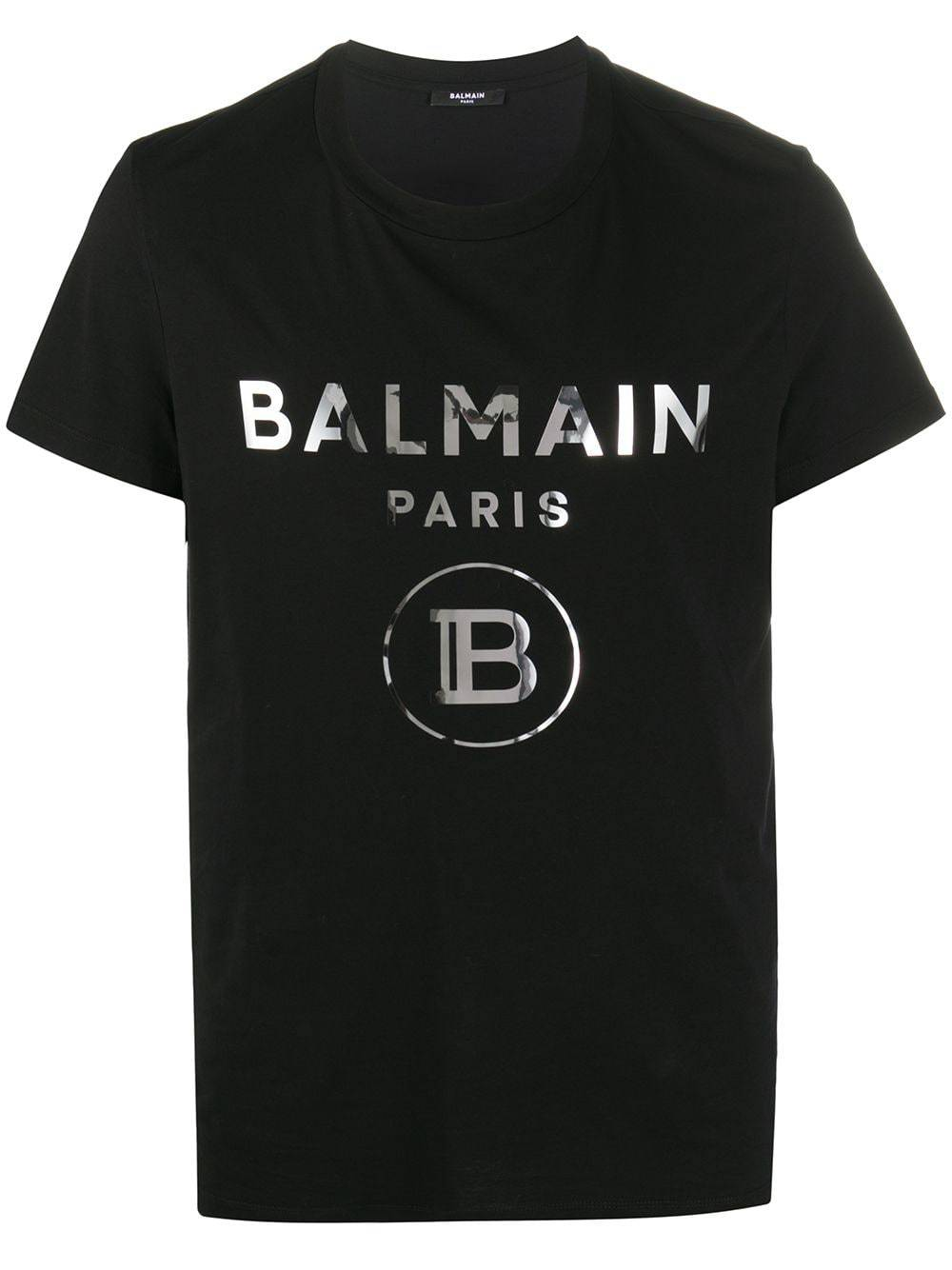 BALMAIN Mirrored Logo T-Shirt Black - Maison De Fashion