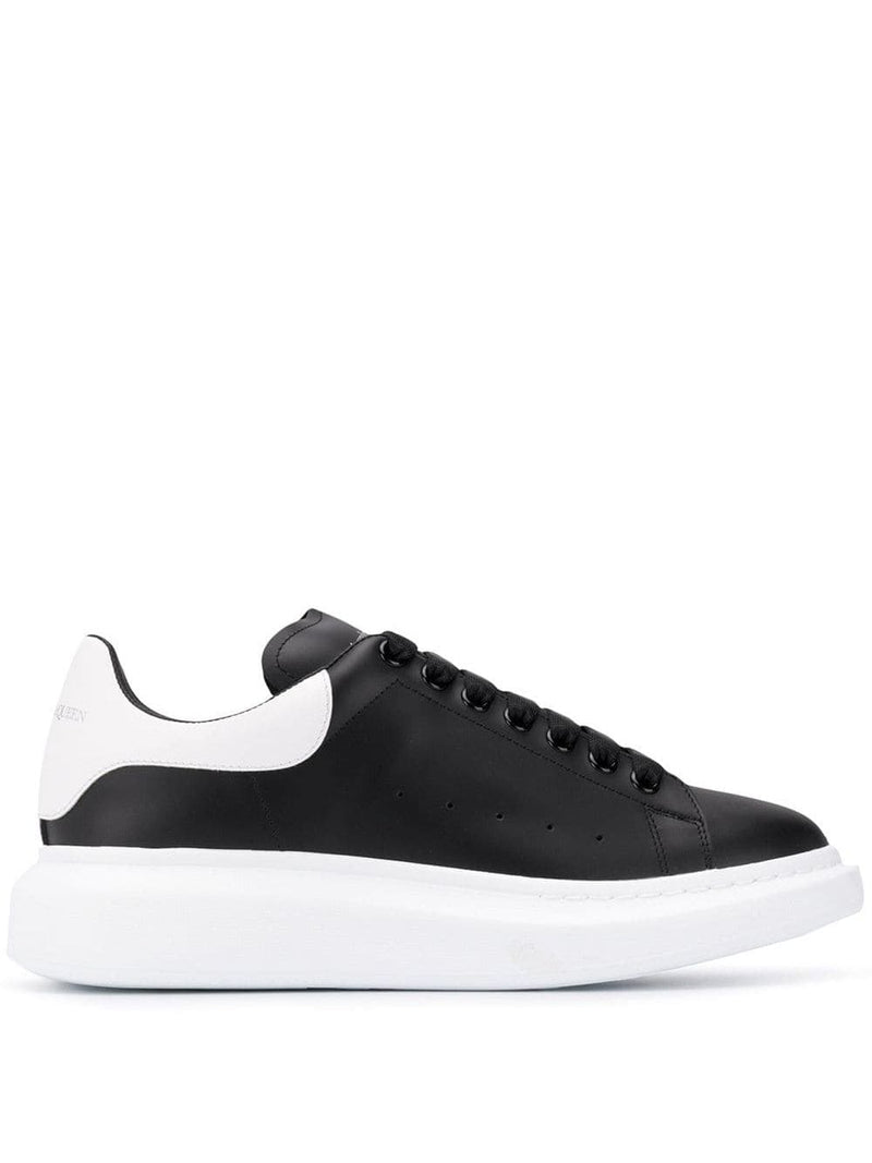ALEXANDER MCQUEEN oversized sole sneakers black/white