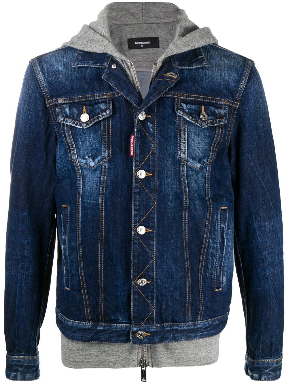 DSQUARED2 ICON Logo Denim Jacket - Maison De Fashion