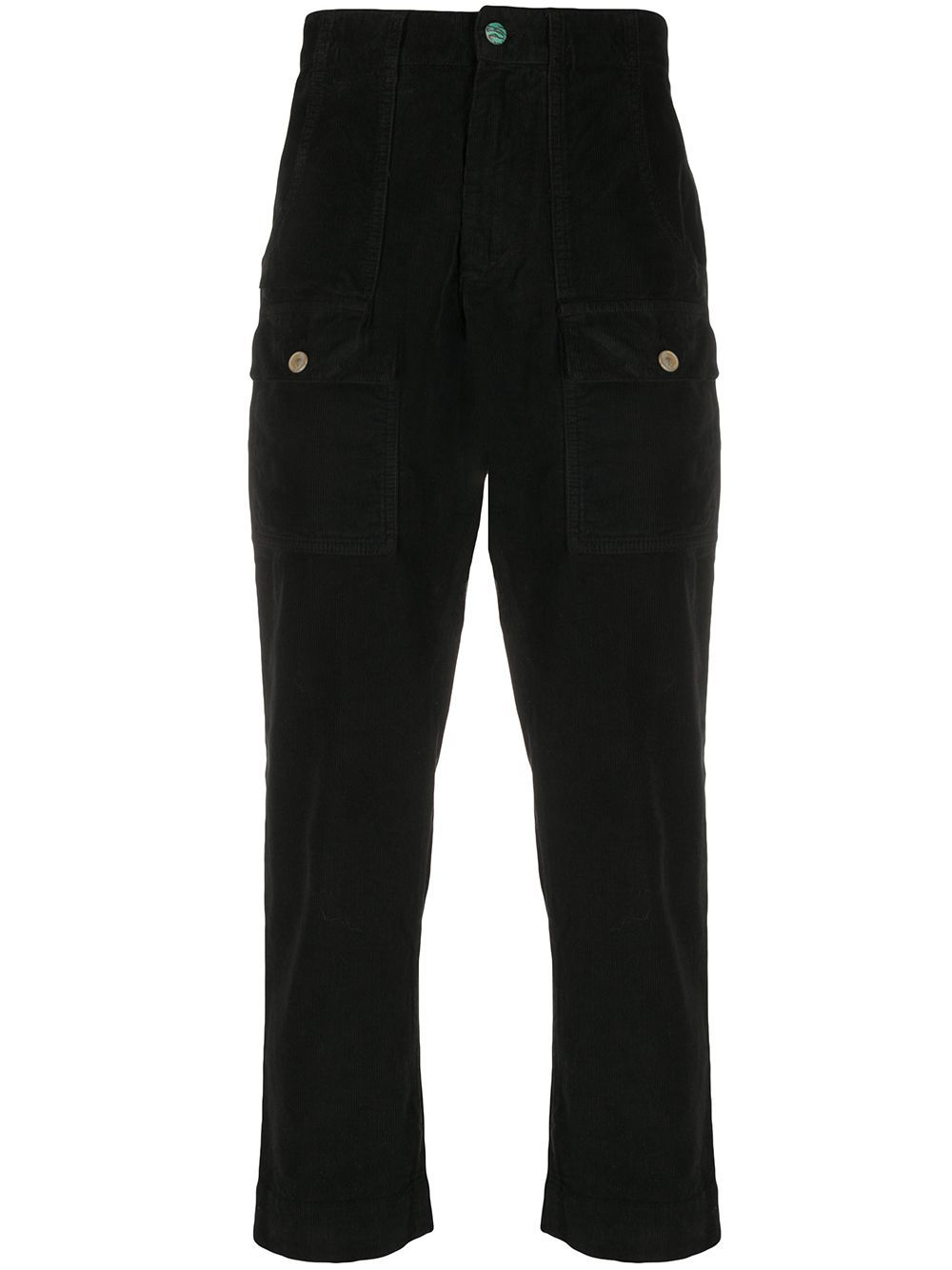 PALM ANGELS Corduroy Pockets Pants Black