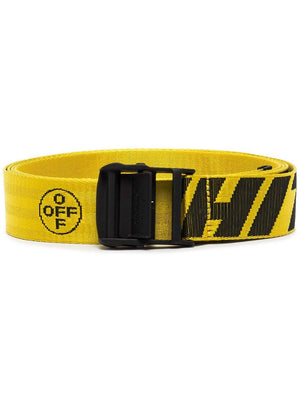 OFF-WHITE industrial belt yellow - Maison De Fashion