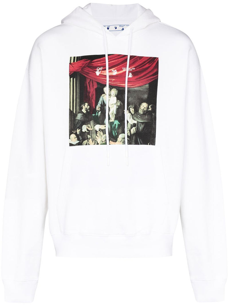 OFF-WHITE caravaggio painting hoodie white