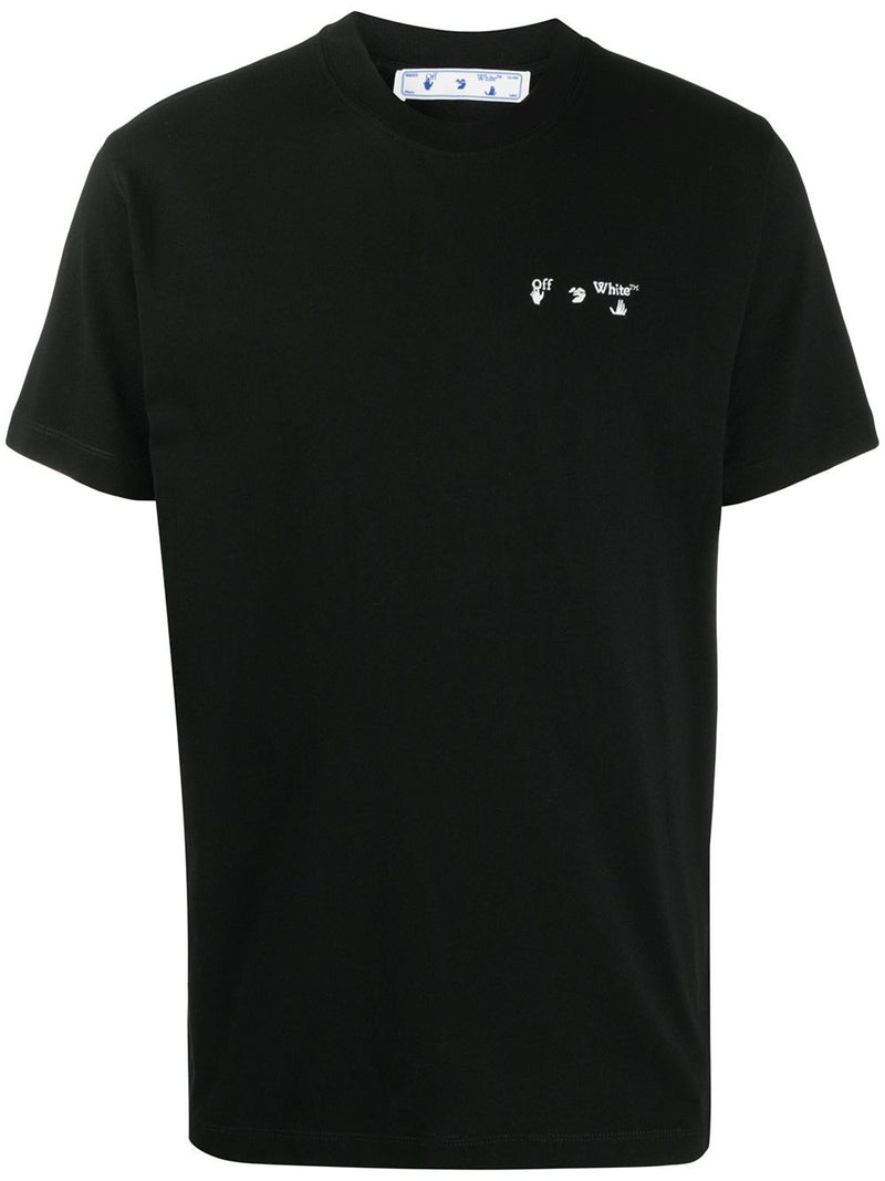 OFF WHITE Logo Crewneck T-Shirt Black