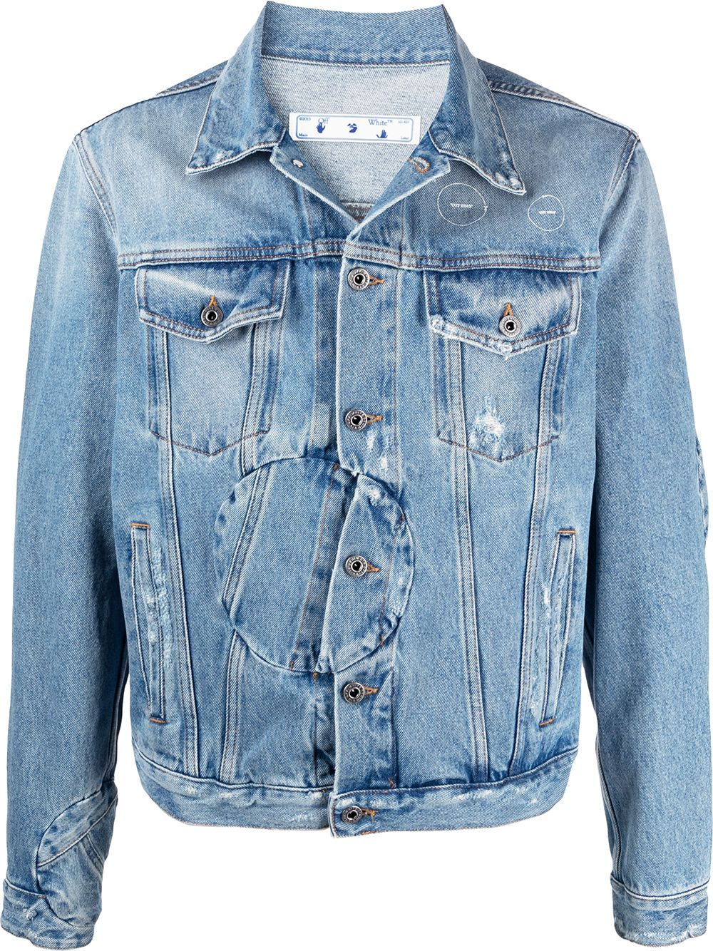 OFF-WHITE Twist Arrow Denim Jacket Blue - Maison De Fashion