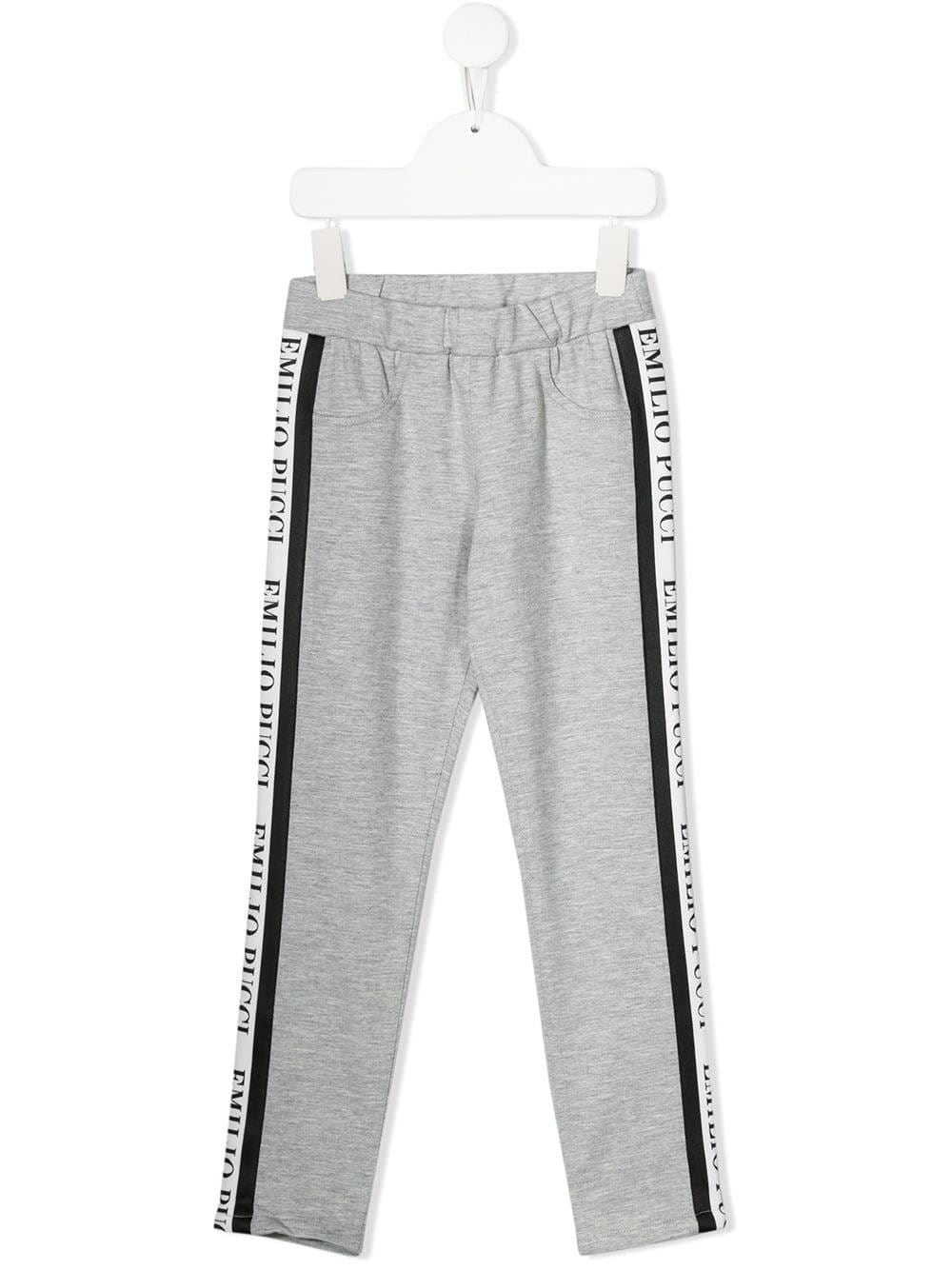 EMILIO PUCCI JUNIOR logo stripe track pants - Maison De Fashion