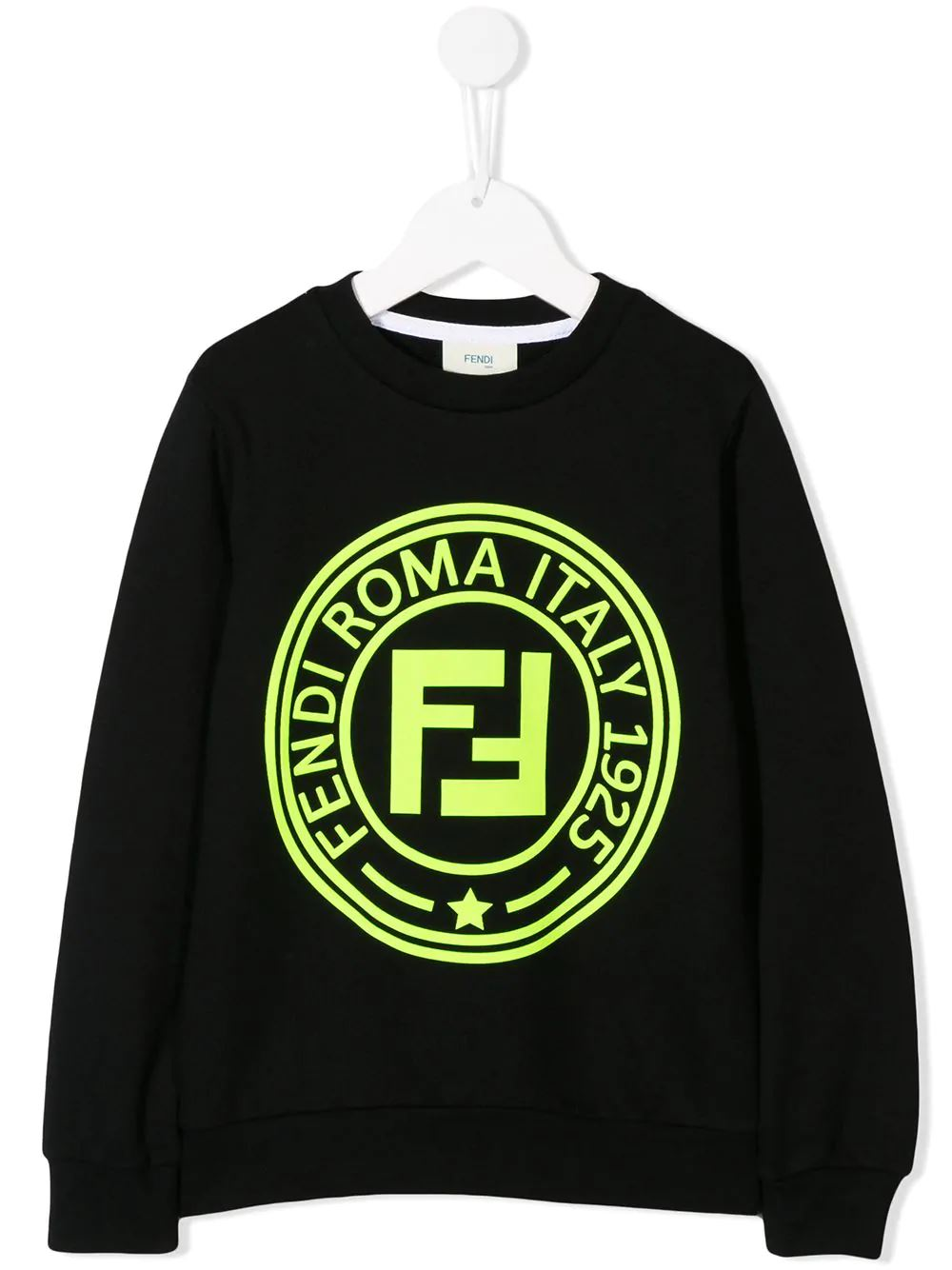 FENDI KIDS printed logo sweatshirt black - Maison De Fashion