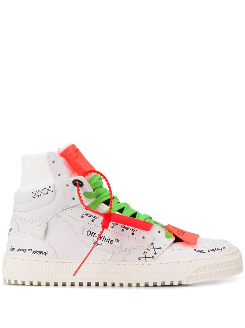 OFF-WHITE hi-top graffiti sneaker - Maison De Fashion