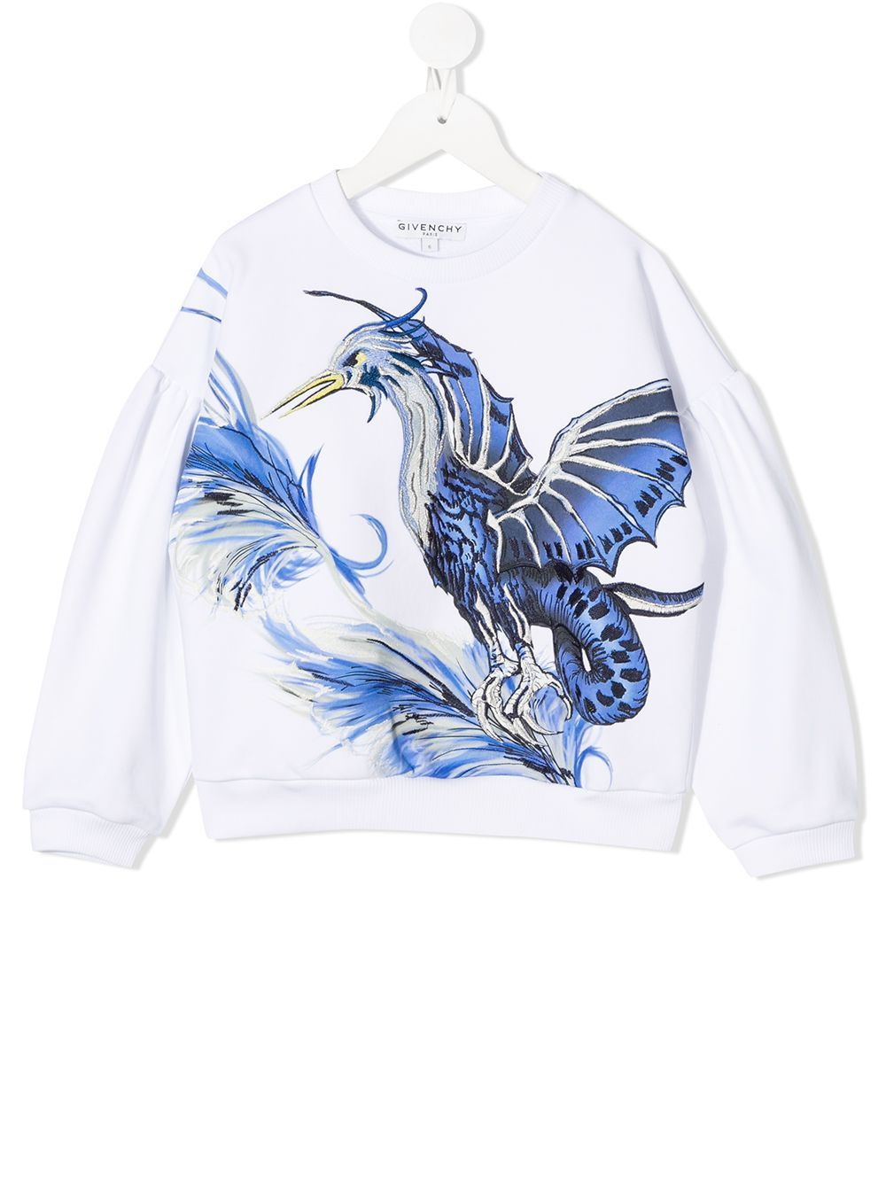 GIVENCHY KIDS Bird Logo Sweatshirt Logo White