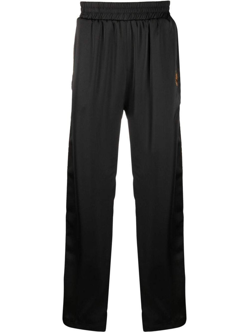 BEL-AIR ATHLETICS Logo Embroidered Track Pants Black
