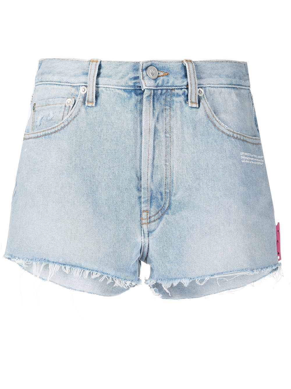 Off-White Women's Frayed Edge Denim Shorts - Maison De Fashion