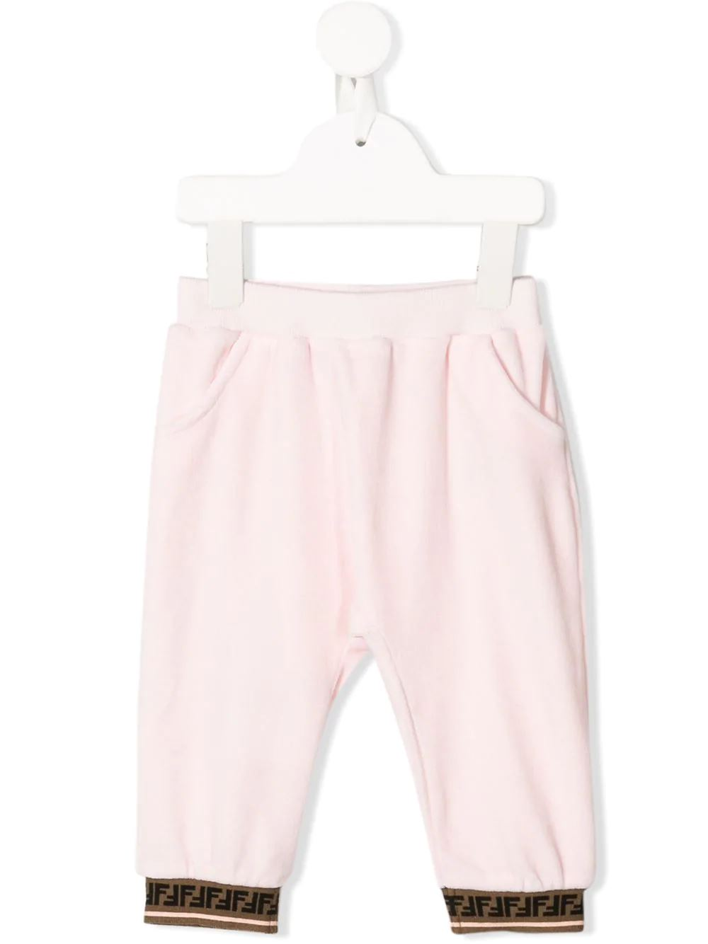 FENDI KIDS FF trim track pants pink - Maison De Fashion