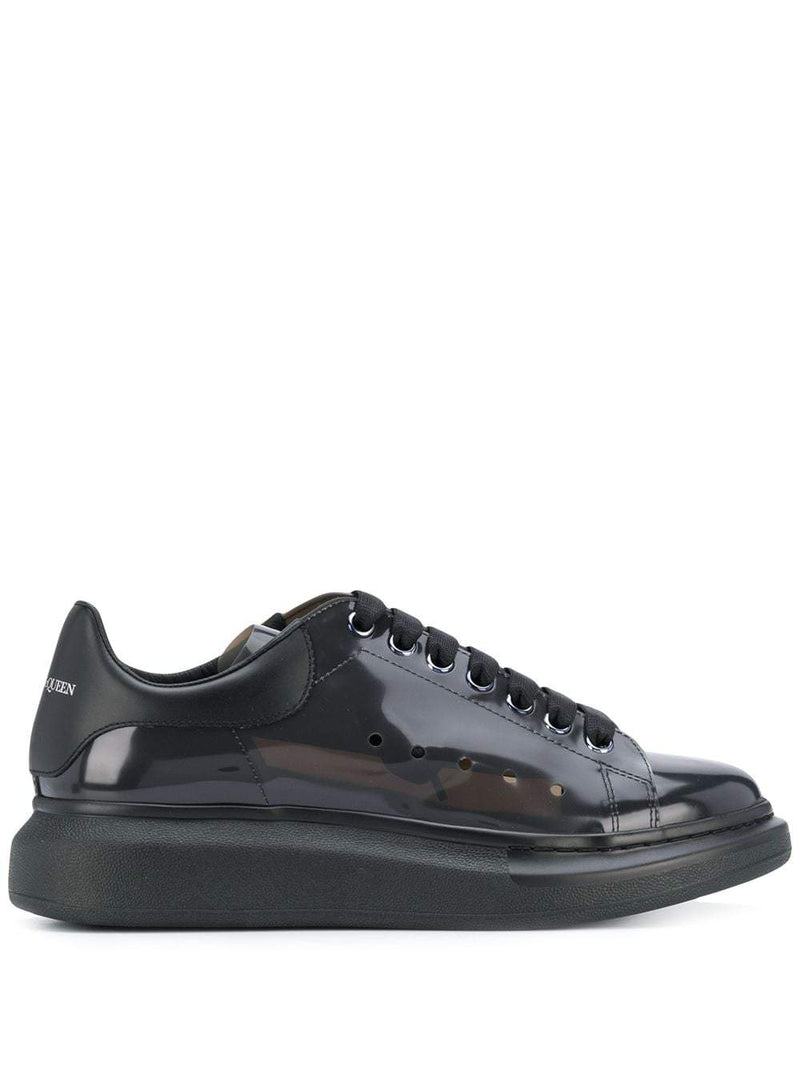 Alexander McQueen smoked oversized sole sneakers black