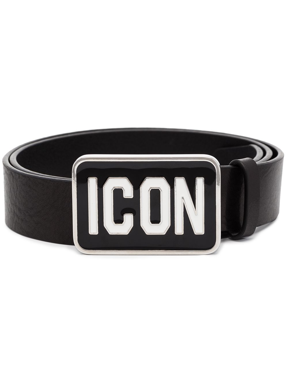 DSQUARED2 Icon Logo Plaque Belt Black