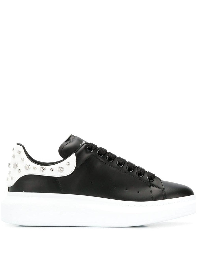 Alexander McQueen studded oversized sole sneakers Black/White