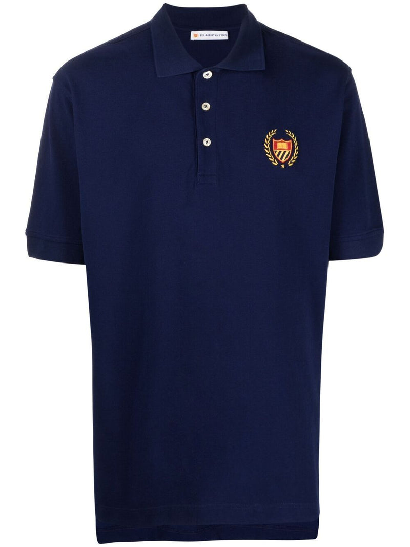 BEL-AIR ATHLETICS Academy Crest Polo Shirt Navy