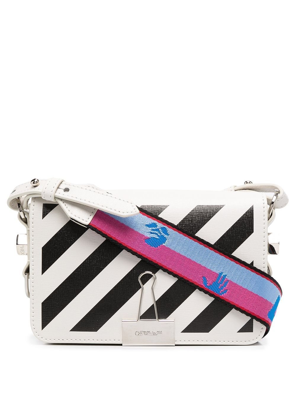 Off-White Women's Diagonal Mini Flap Bag White - Maison De Fashion