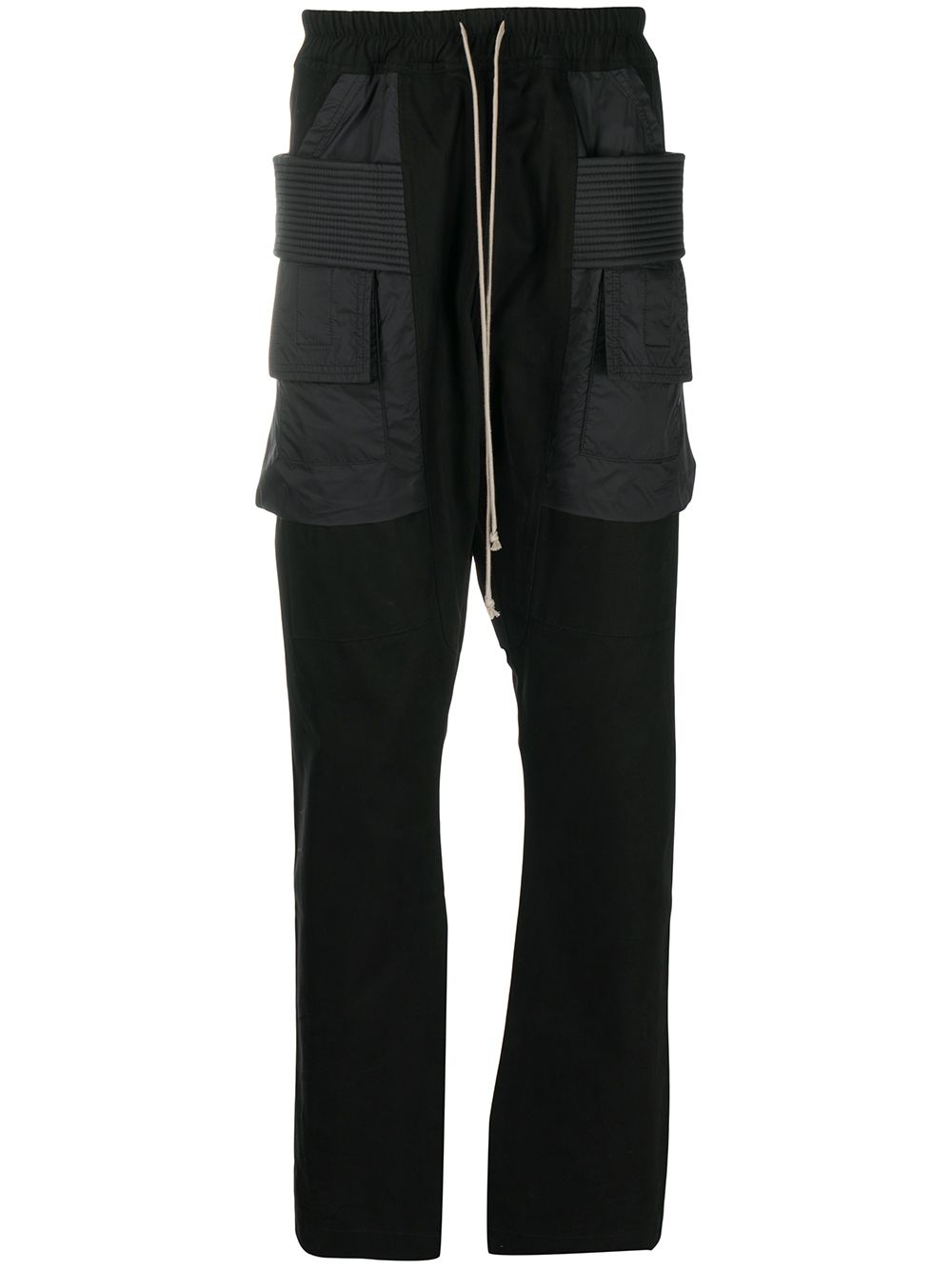 RICK OWENS DRKSHDW Cargo Drawstring Trousers Black - Maison De Fashion