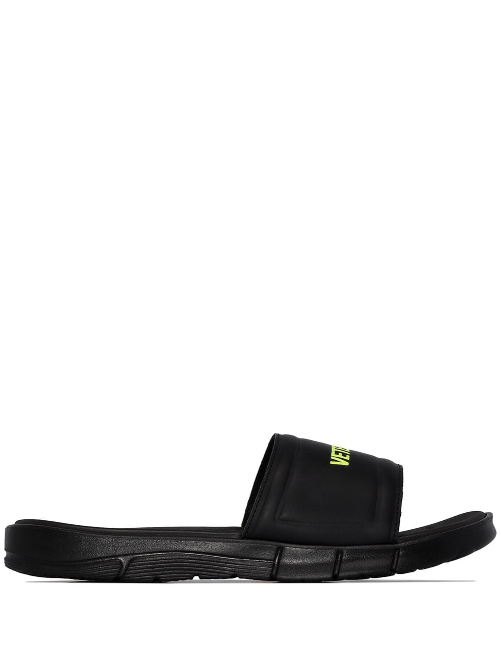 VETEMENTS logo sliders black - Maison De Fashion