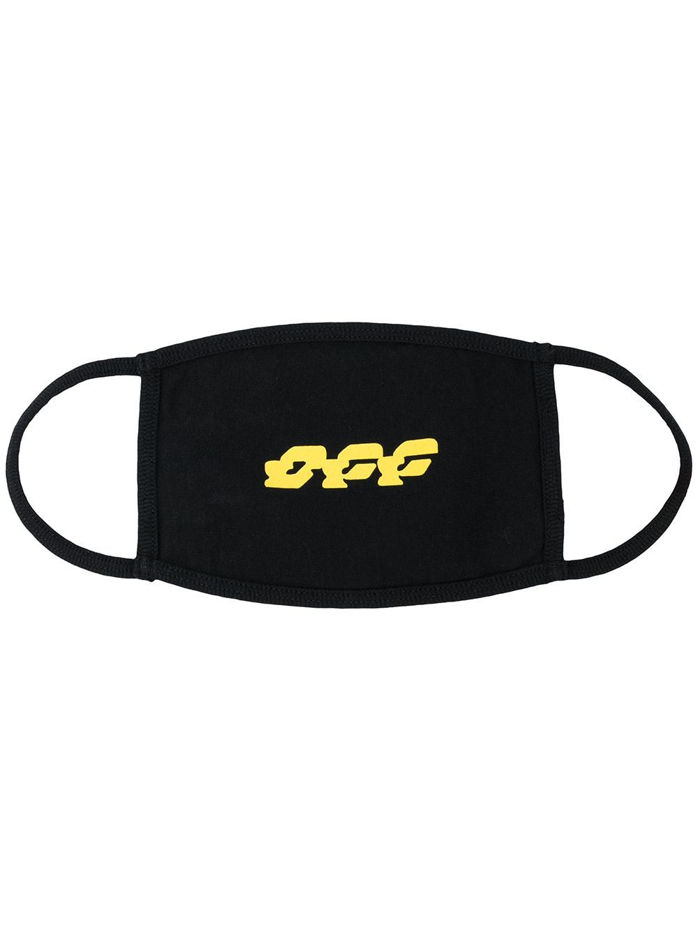 OFF-WHITE disrupted font mask black/yellow