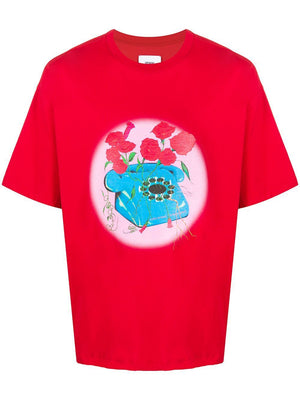 Opening Ceremony Phone Print T-shirt Red