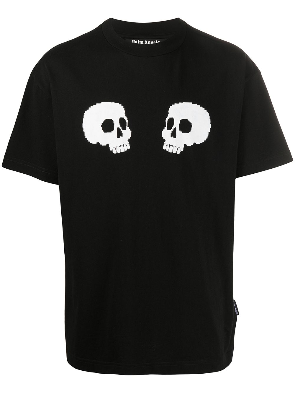 PALM ANGELS skulls t-shirt black