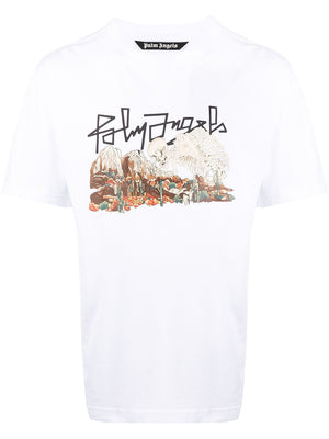 PALM ANGELS Desert Skull Tee White